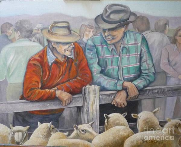 Painting - Farming Friends by Val Stokes