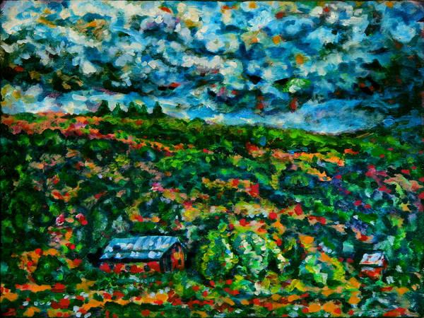 Wall Art - Painting - Farmland Thunder by Laura Heggestad