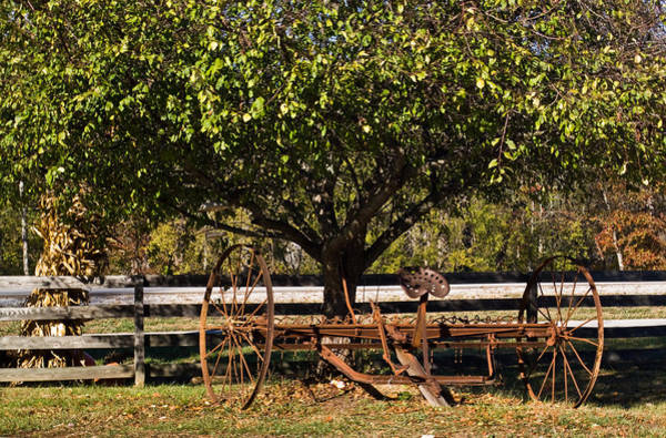 Hay Rake Photograph - Farmtime by Douglas Barnett