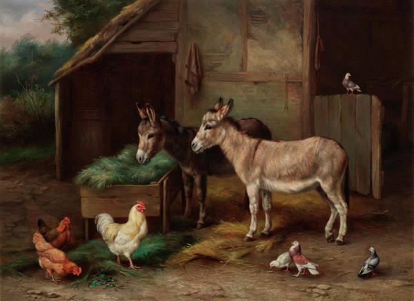 Breeding Painting - Farmyard Friends by Edgar Hunt