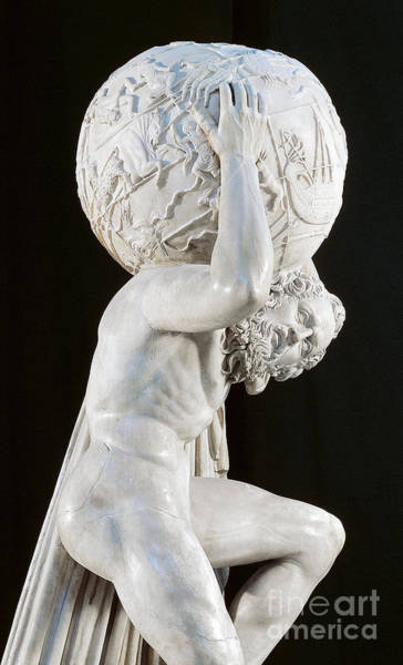 Burden Wall Art - Sculpture - Farnese Atlas by Roman School