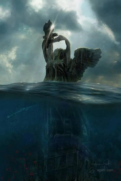 Ocean Scape Digital Art - Faro Della Vittoria by Andrea Gatti