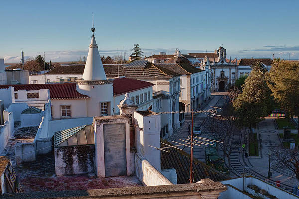 Photograph - Faro Portugal Rooftops In The Morning Light by Tatiana Travelways