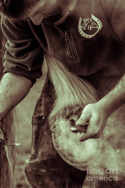Photograph - Farrier Hot Shoe by Paul Warburton