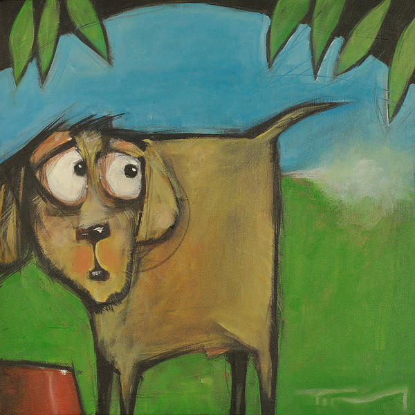 Painting - Farting Dog by Tim Nyberg
