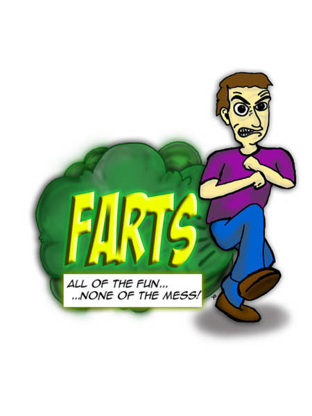 Print On Demand Digital Art - Farts - All Of The Fun None Of The Mess by Paul Telling