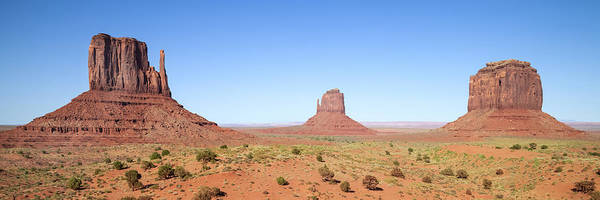 Geologic Formation Photograph - Fascinating Monument Valley Panoramic View by Melanie Viola