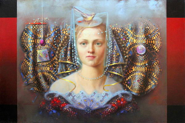 Wall Art - Painting - Fascinator by Loretta Fasan