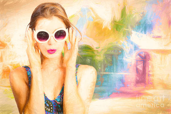 Realistic Photograph - Fashion Art Pinup Woman by Jorgo Photography - Wall Art Gallery