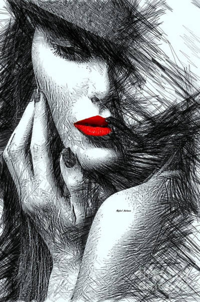 Digital Art - Fashion Flair In Black And White by Rafael Salazar
