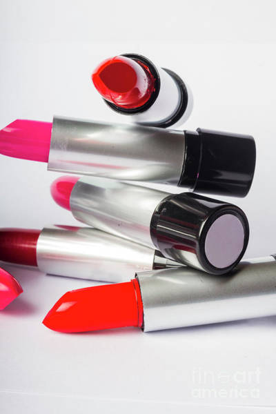 Close-up Photograph - Fashion Model Lipstick by Jorgo Photography - Wall Art Gallery