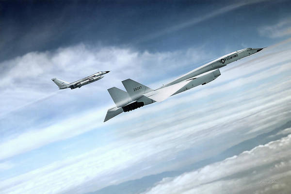 Nuclear Bomber Wall Art - Digital Art - Fast Company by Peter Chilelli