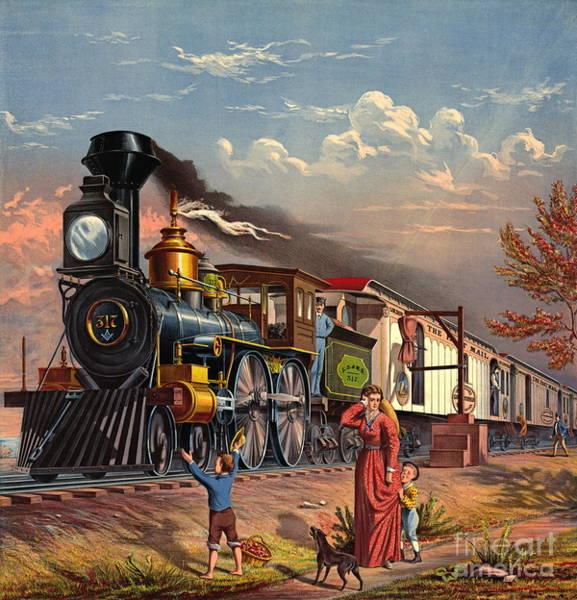Wall Art - Photograph - Fast Mail 1875 by Padre Art
