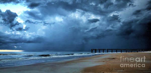 Wall Art - Photograph - Fast Moving Storm, Saint Augustine Beach, Florida by Felix Lai