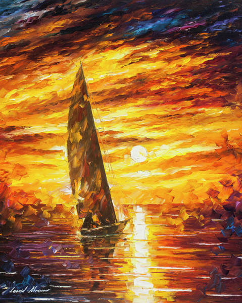 Wall Art - Painting - Fast Sail  by Leonid Afremov