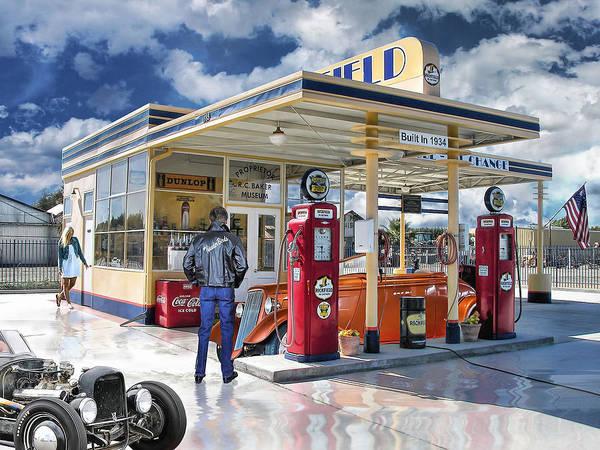 Hot Rod Digital Art - Fast Times At Richfields .... by Rat Rod Studios