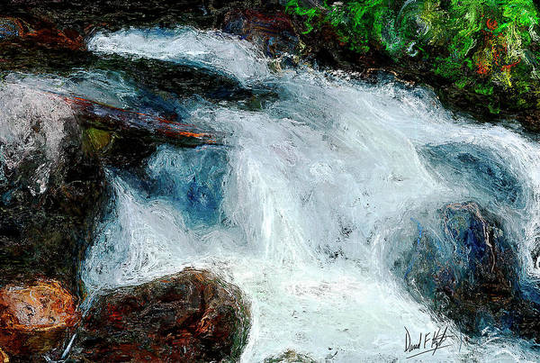 Wall Art - Painting - Fast Water by David Kyte