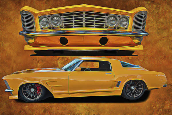 Painting - Fast Yellow by Harry Warrick