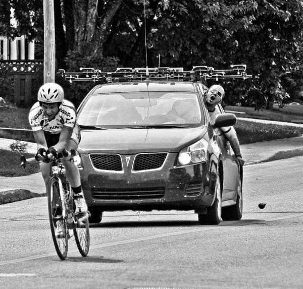 Bike Race Photograph - Faster, Faster  by Maggie Terlecki