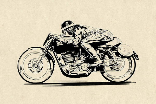 Wall Art - Drawing - Faster Faster by Mark Rogan