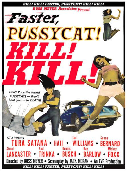 Digital Art - Faster Pussycat Kill Kill 1964 by Joy McKenzie