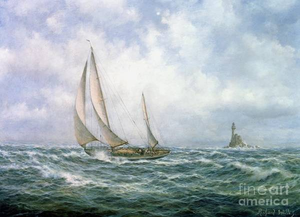 Rocky Coast Painting - Fastnet Abeam by Richard Willis