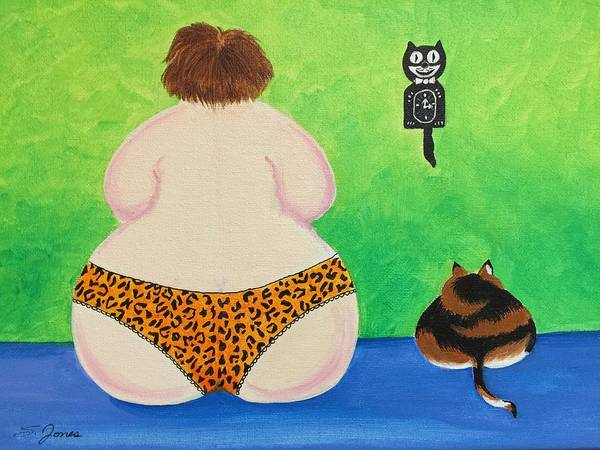Painting - Fat Cats by Sonja Jones