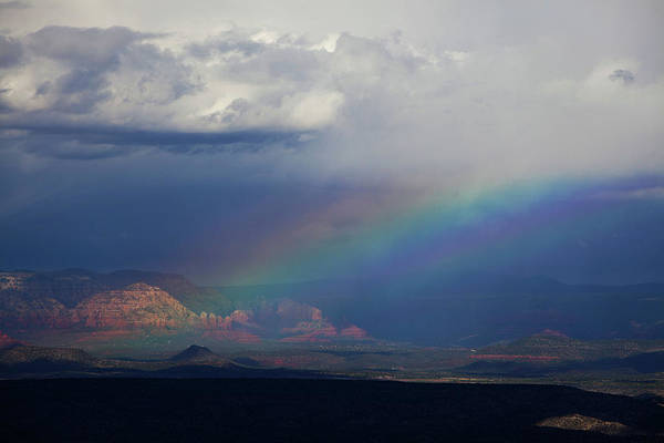Photograph - Fat Rainbow, Sedona Az by Ron Chilston