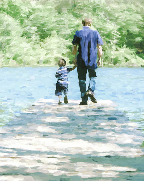 Photograph - Father And Son 3 by Andrea Anderegg