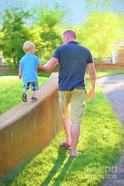 Growing Up Digital Art - Father And Son by Sharon McConnell