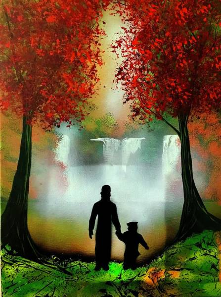 Wall Art - Painting - Father And Son by Willy Proctor