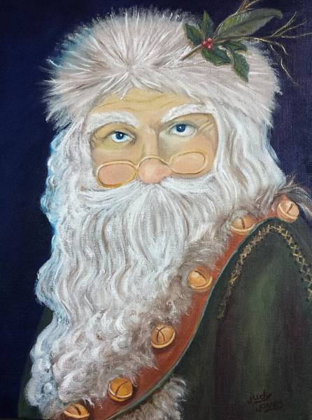 Wall Art - Painting - Father Christmas by Judy Jones