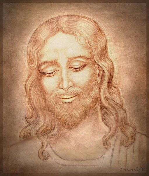 Wall Art - Drawing - Father Forgive Them  by Ananda Vdovic