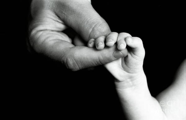 Wall Art - Photograph - Father Holding Hand Of Baby by Sami Sarkis
