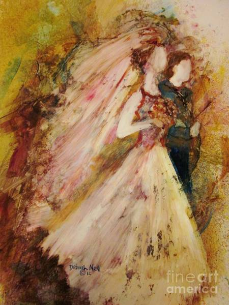 Faceless Painting - Father Of The Bride by Deborah Nell