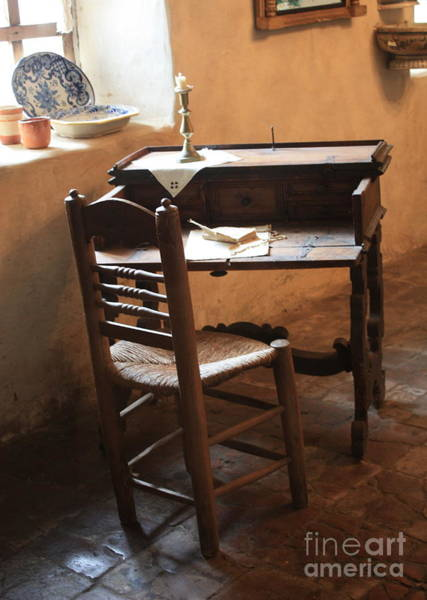 Photograph - Father Serra's Desk by Carol Groenen