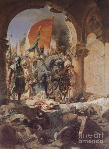 Painting - Fatih Sultan Mehmed's Entering To Istanbul by Celestial Images