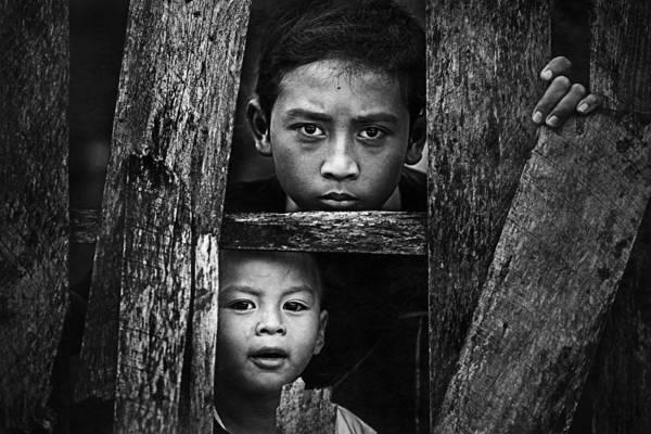 Child Photograph - Fattah & Yoga by Teguh Yudhi Winarno