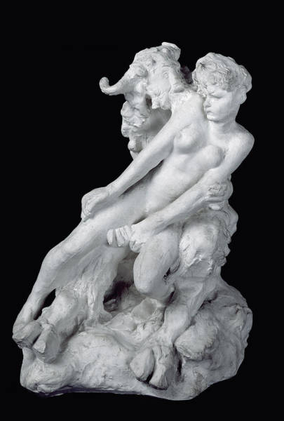Wall Art - Photograph - Faun And Nymph by Auguste Rodin