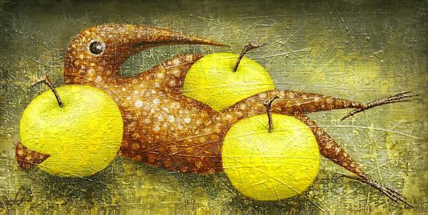Birdman Painting - Fauna by Lolita Bronzini