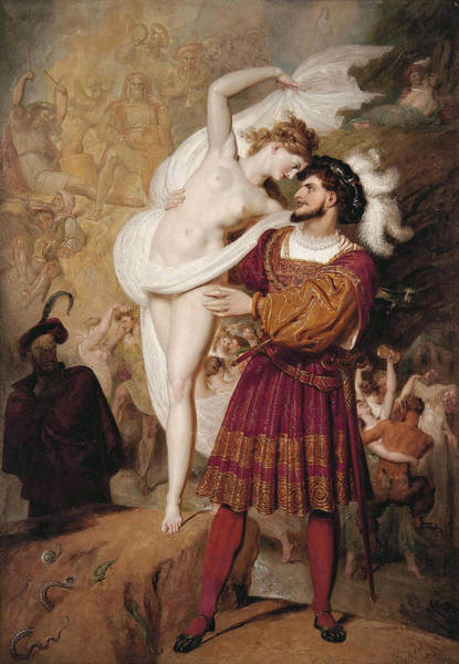 Wall Art - Painting - Faust And Lilith by Richard Westall