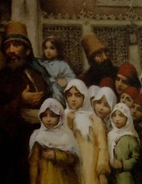 Fausto Zonaro Painting - Fausto Zonaro Kids by Eastern Accents