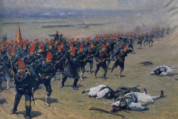 Fausto Zonaro Painting - Fausto Zonaro Ottoman Soldiers At War by Eastern Accents