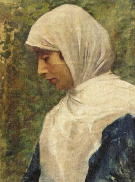 Fausto Zonaro Painting - Fausto Zonaro Ottoman Woman by Eastern Accents