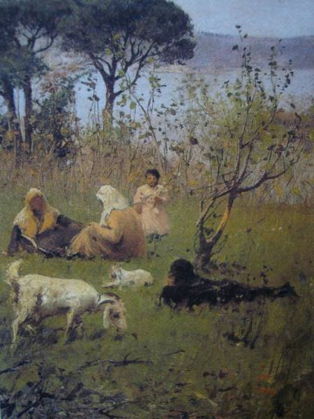 Fausto Zonaro Painting - Fausto Zonaro Picnic by Eastern Accents