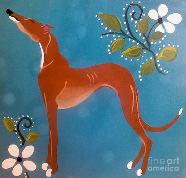 Wall Art - Painting - Fawn With Flowers by Jennifer Howard