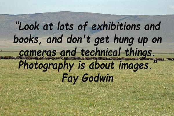Photograph - Fay Godwin Quote by Tony Murtagh