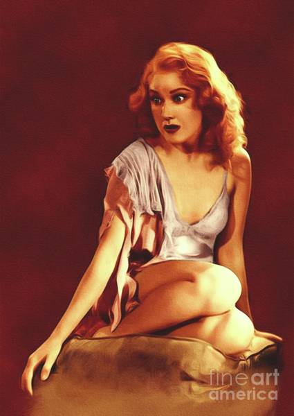 Scream Painting - Fay Wray, Vintage Scream Queen by John Springfield