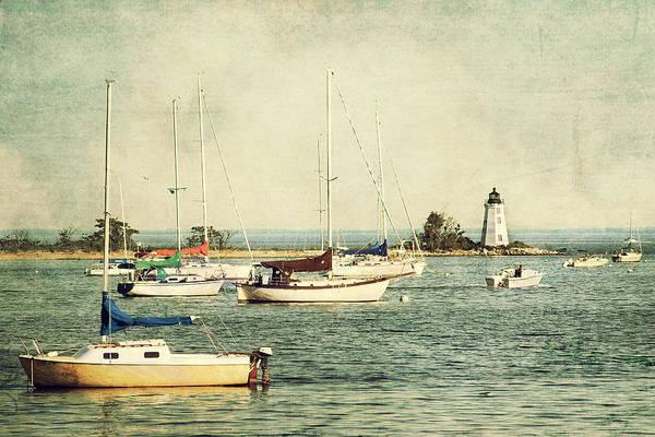 Photograph - Fayerweather Island Lighthouse - Bridgeport Lighthouse - Black Rock Harbor by Joann Vitali