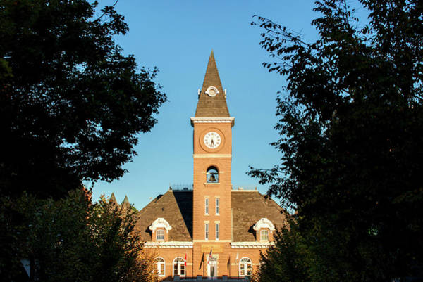 Fayetteville Photograph - Fayetteville Arkansas Downtown Courthouse At Sunset by Gregory Ballos